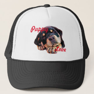 Rottweiler Puppy Love Rott Dog Canine German Breed Trucker Hat