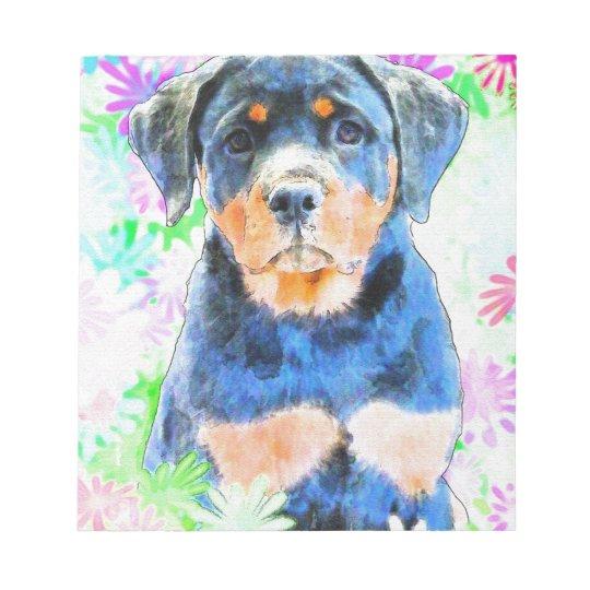 Rottweiler Puppy Notepad