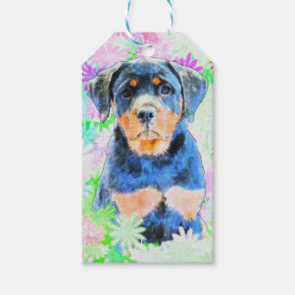 Rottweiler Puppy Pack Of Gift Tags