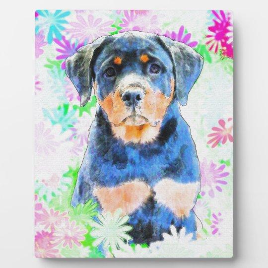 Rottweiler Puppy Plaque