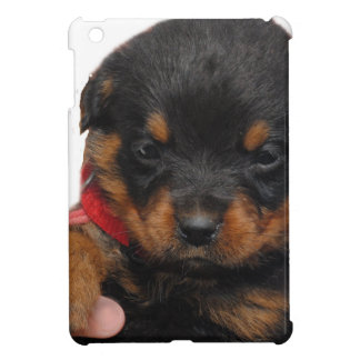 Rottweiler Puppy Red Case For The iPad Mini