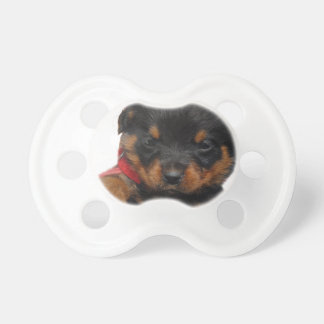 Rottweiler Puppy Red Pacifier