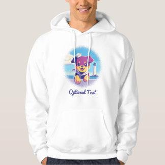 Rottweiler Puppy Sea Dog Sailor Hoodie