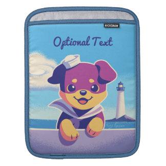Rottweiler Puppy Sea Dog Sailor iPad Sleeve