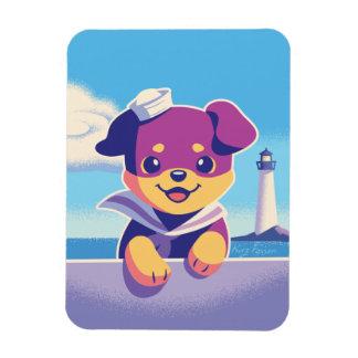 Rottweiler Puppy Sea Dog Sailor Magnet