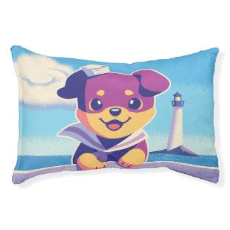 Rottweiler Puppy Sea Dog Sailor Pet Bed