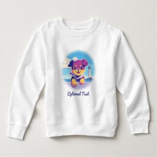 Rottweiler Puppy Sea Dog Sailor Sweatshirt