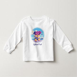 Rottweiler Puppy Sea Dog Sailor Toddler T-shirt