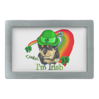 Rottweiler Puppy St Pattys Belt Buckle