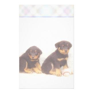 Rottweiler puppy stationary custom stationery