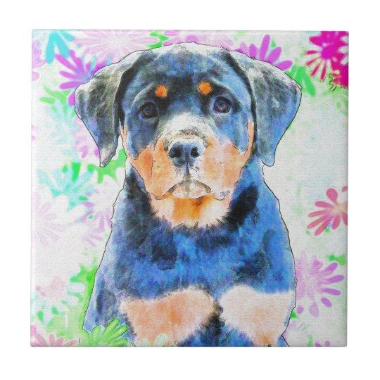 Rottweiler Puppy Tile
