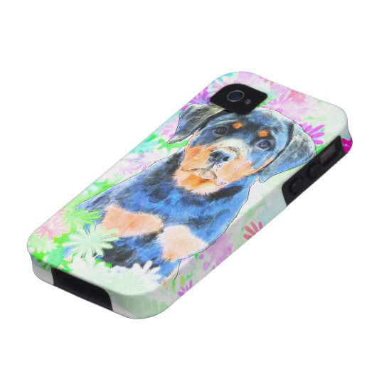 Rottweiler Puppy Vibe iPhone 4 Cover