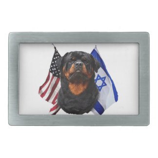 Rottweiler Rectangular Belt Buckle