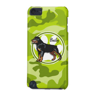 Rottweiler Rott bright green camo camouflage iPod Touch 5G Covers