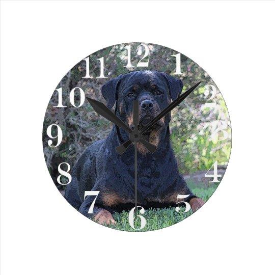 Rottweiler Round Clock