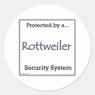 Rottweiler Security System Sticker
