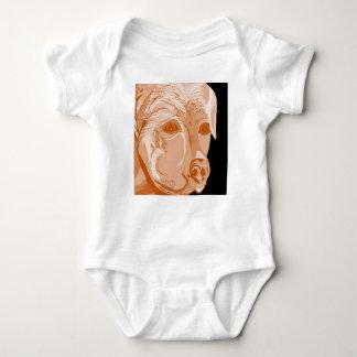 Rottweiler Sepia Tones Baby Bodysuit