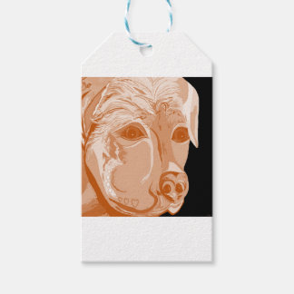 Rottweiler Sepia Tones Gift Tags