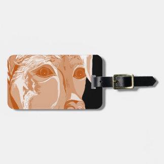 Rottweiler Sepia Tones Luggage Tag