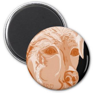 Rottweiler Sepia Tones Magnet