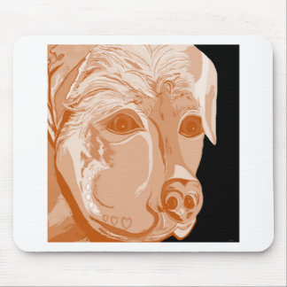 Rottweiler Sepia Tones Mouse Pad