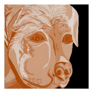 Rottweiler Sepia Tones Poster