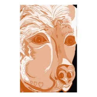 Rottweiler Sepia Tones Stationery