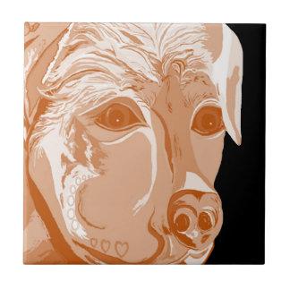 Rottweiler Sepia Tones Tile