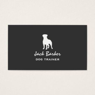 Rottweiler Silhouette Business Card