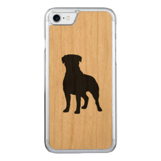 Rottweiler Silhouette Carved iPhone 7 Case