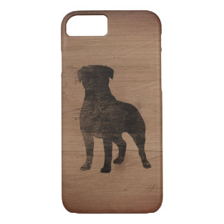 Rottweiler Silhouette Rustic iPhone 8/7 Case