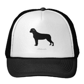 Rottweiler silhouette trucker hat