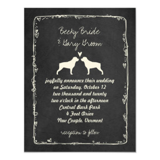 Rottweiler Silhouettes Wedding Announcement