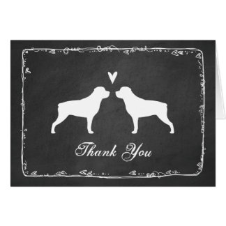 Rottweiler Silhouettes Wedding Thank You Card