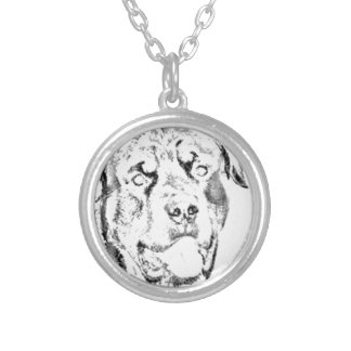 Rottweiler Silver Plated Necklace