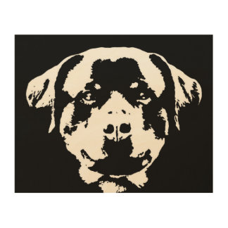 "Rottweiler Stencil Wood 10""x8"" Wall Art"