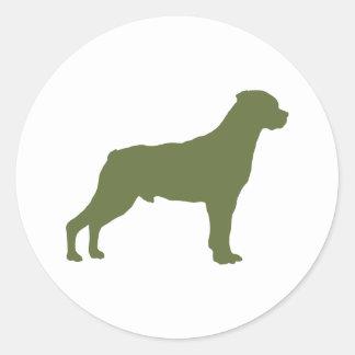 Rottweiler Round Stickers