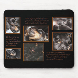 Rottweiler Temperament - Puppy Collage Mouse Pad