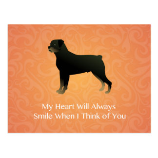 Rottweiler - Thinking of You - Pet Memorial Postcard