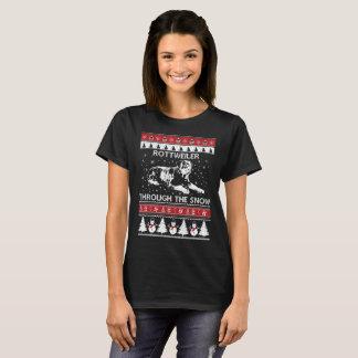 Rottweiler Through The Snow T-shirt