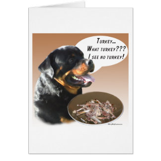 Rottweiler Turkey Card