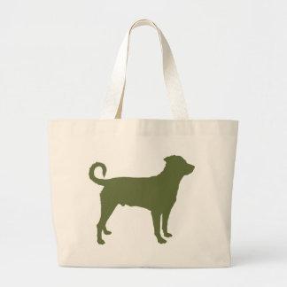 Rottweiler (Undocked Tail) Jumbo Tote Bag