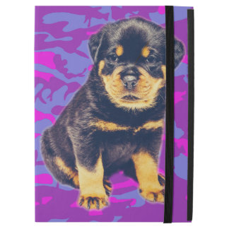 "Rottweiler with Blue and Pink Camo iPad Pro 12.9"" Case"