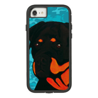 Rottweiler with Blue Camo Case-Mate Tough Extreme iPhone 8/7 Case