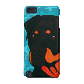 Rottweiler with Blue Camo iPod Touch (5th Generation) Case