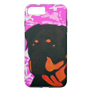 Rottweiler with Pink Camo Case-Mate iPhone Case