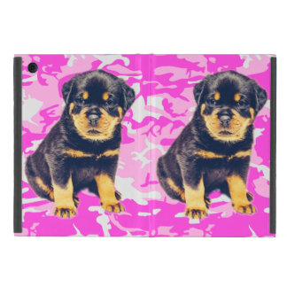 Rottweiler with Pink Camo iPad Mini Cover