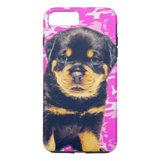 Rottweiler with Pink Camo iPhone 7 Plus Case