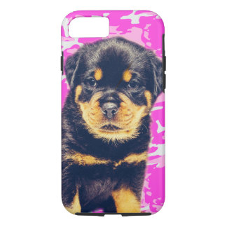 Rottweiler with Pink Camo iPhone 8/7 Case