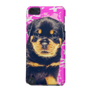 Rottweiler with Pink Camo iPod Touch (5th Generation) Cover